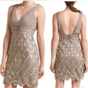 Sue Wong Art Deco Sequined Gatsby Cocktail Dress 4